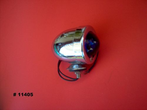 CHROME MARKER LIGHT-BLUE LENS